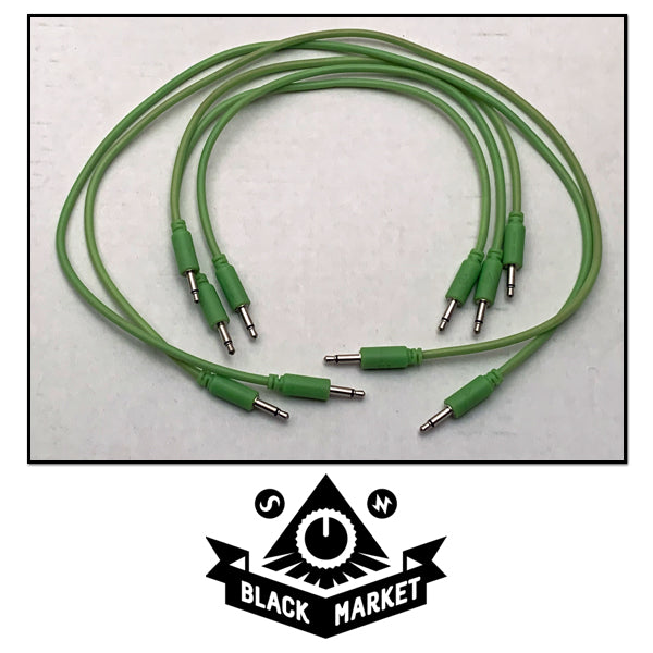 Black Market Modular Eurorack Patch Cables - 5 Glow In The Dark