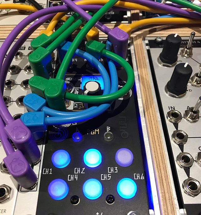 Luigi's Modular Supply PAR Right-Angled Eurorack Patch Cables - Blue 36""