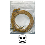 "Luigi's Modular Supply PAR Right-Angled Eurorack Patch Cables - Gold 36"" 5 cables"