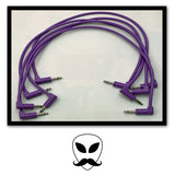 Luigi's Modular Supply PAR Right-Angled Eurorack Patch Cables - Purple 15""