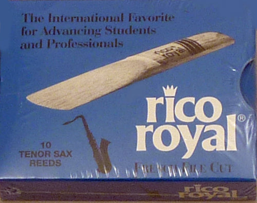 Rico Royal Tenor Saxophone Reeds, Strength 2.5, 10-pack (Old)