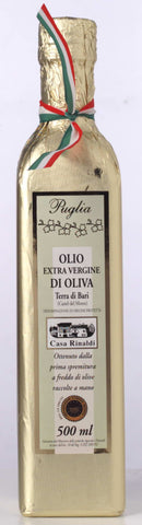 Extra Virgin Olive Oil from region of Puglia Wrapped in gold paper 500ml