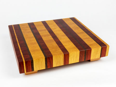 Striped Square Endgrain Cutting Board