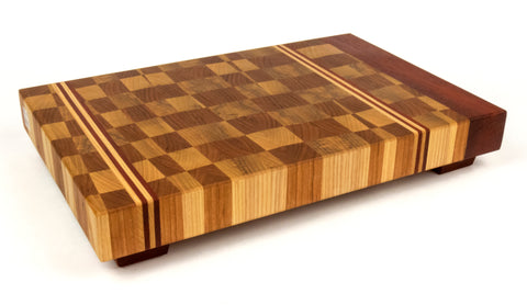 Striped Rectangle Endgrain Cutting Board