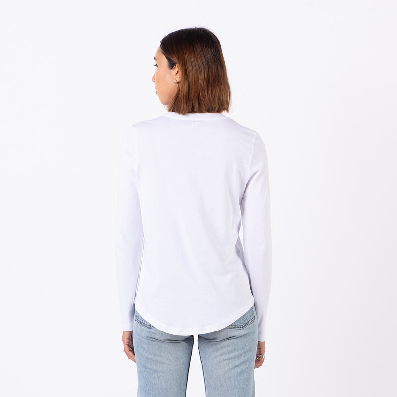 Womens Dep. Detroit L/S Tee (White)