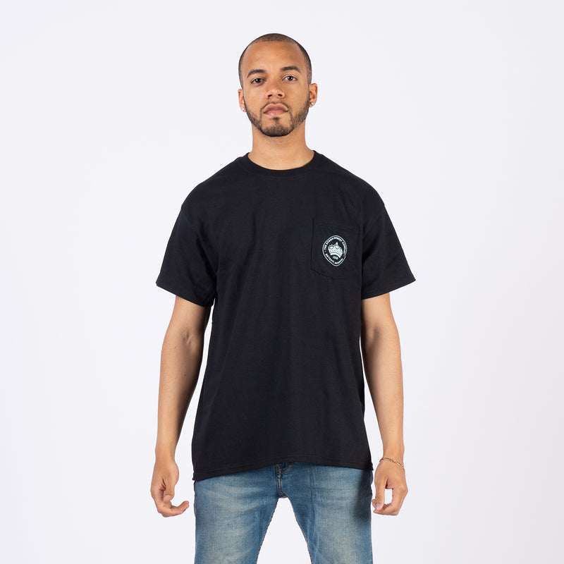 CREST POCKET TEE - Black