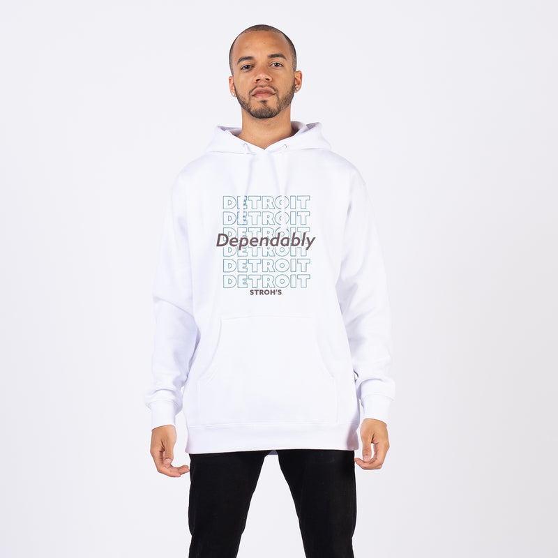 STACKED HOODIE - White