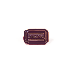 STROHS CAN ENAMEL PIN