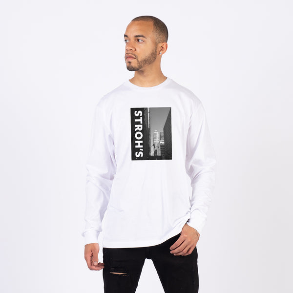 DOWNTOWN LONG SLEEVE- WHITE