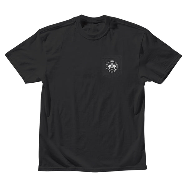 CREST POCKET TEE BLACK