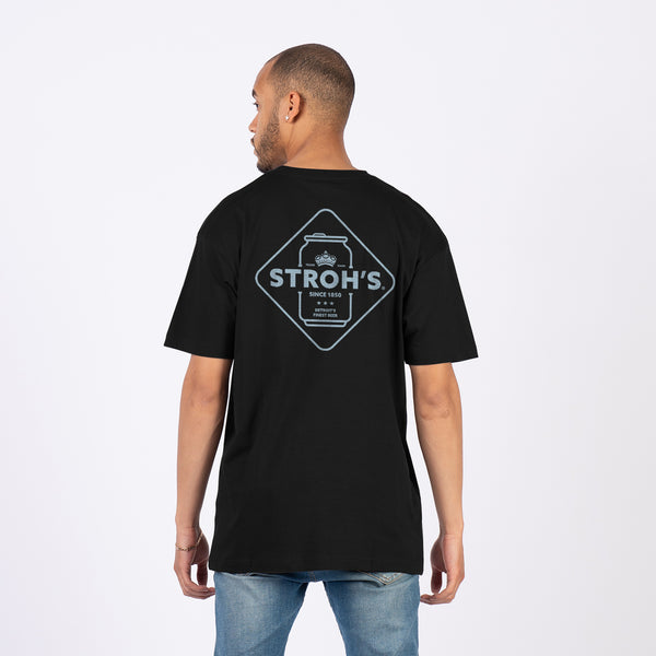 Stroh Can Tee - Black