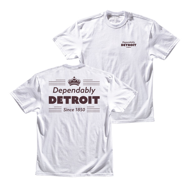 Detroit Crown Tee - White