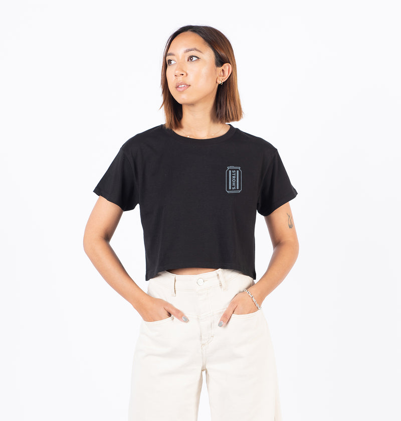 WOMEN'S CAN CROP TEE (BLACK)