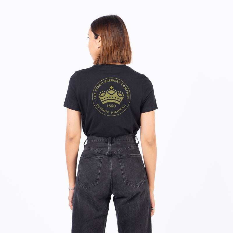 WOMEN'S CROWN TEE - Black