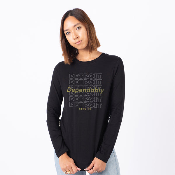 Womens Dep. Detroit L/S Tee (Black)