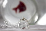 Necklace Eco Chic Elixir of Life in Handblown Glass Orb and 925 Sterling Silver