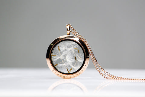 Rose Gold Dandelion