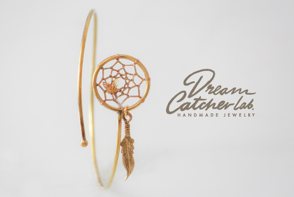 DreamCatcher Total Brass Bangle Minimal Chic Native American
