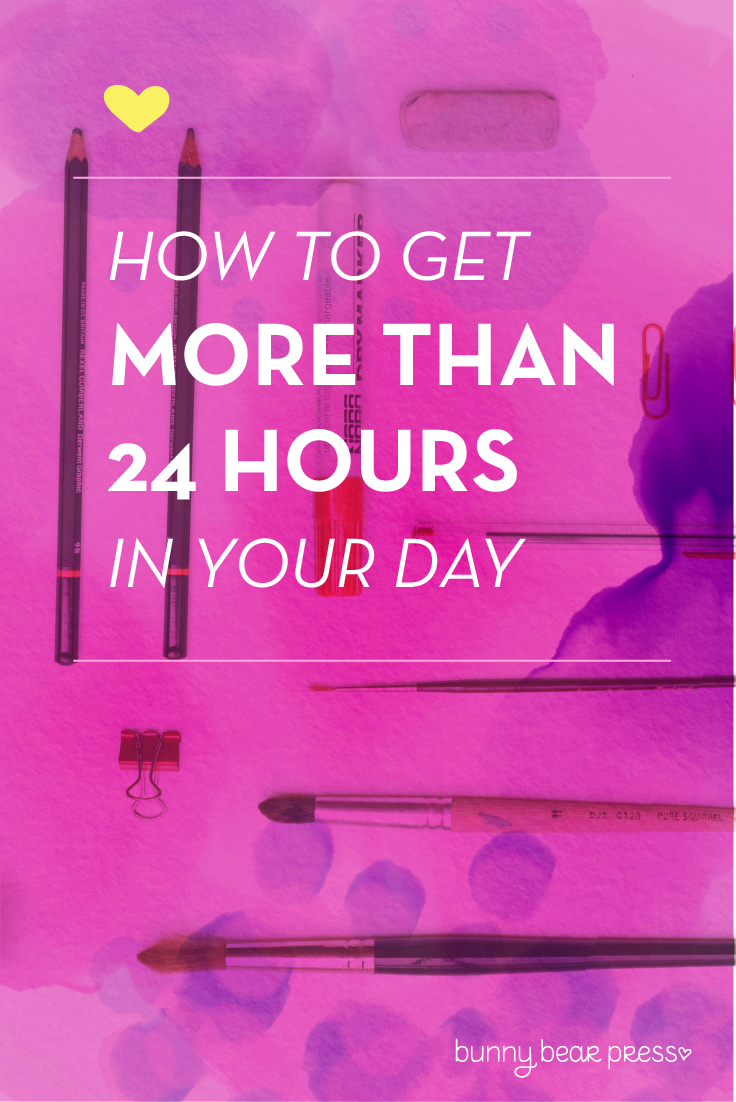 How to get more than 24 hours in a day: A lesson in juggling priorities.