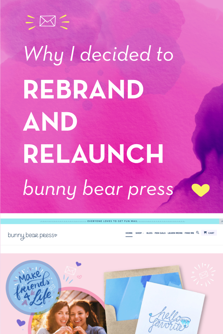Why I decided to rebrand and relaunch bunny bear press