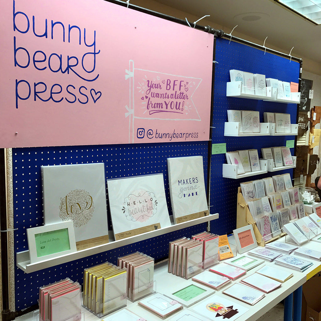 Craft Fair Booth for Bunny Bear Press
