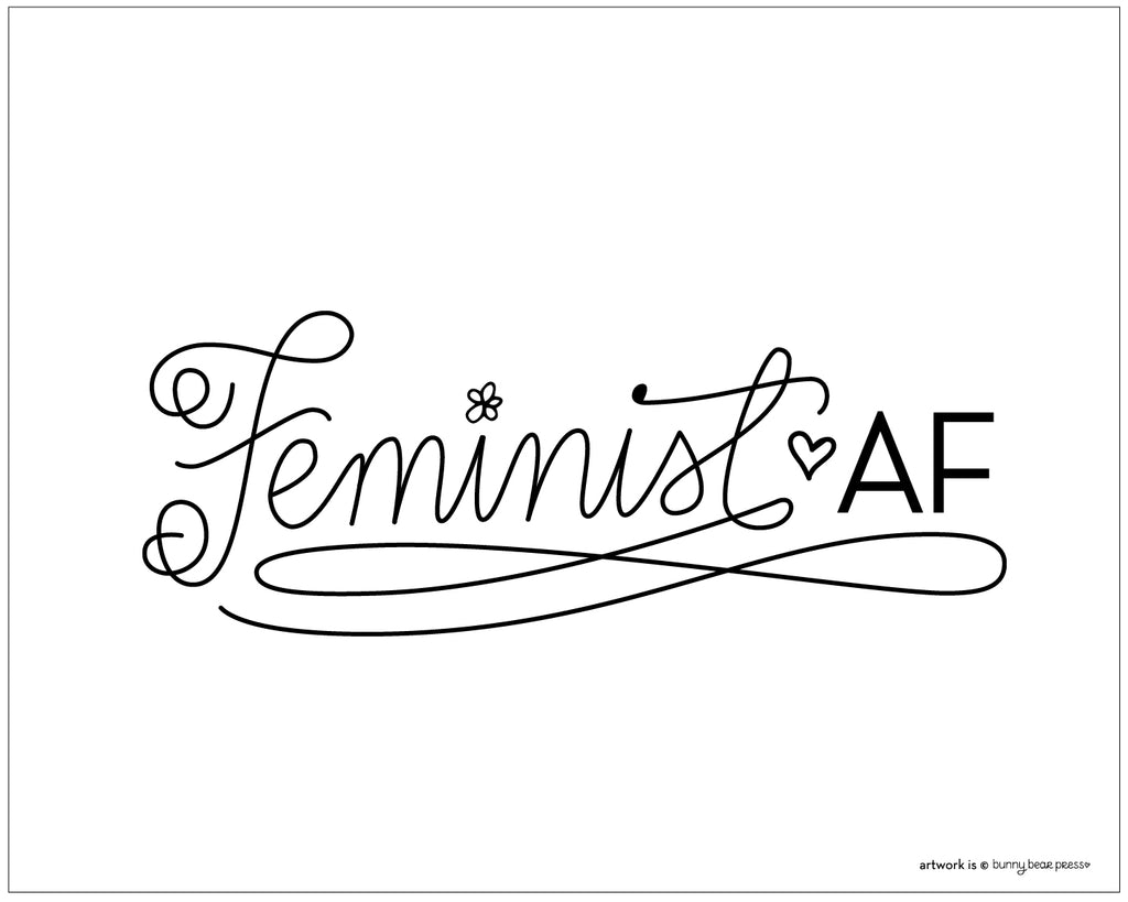 Feminist Women's March 2018 Poster FREE DOWNLOAD