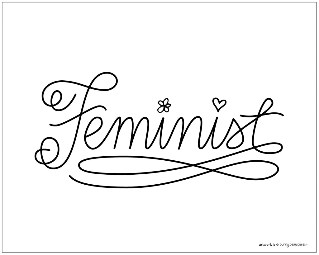 Feminist Poster Women's March 2018 FREE DOWNLOAD