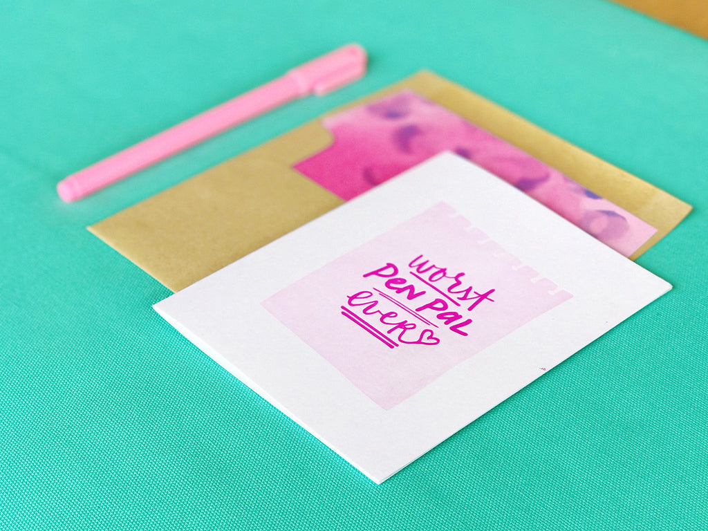Worst Pen Pal Ever Letterpress Greeting Card by Bunny Bear Press