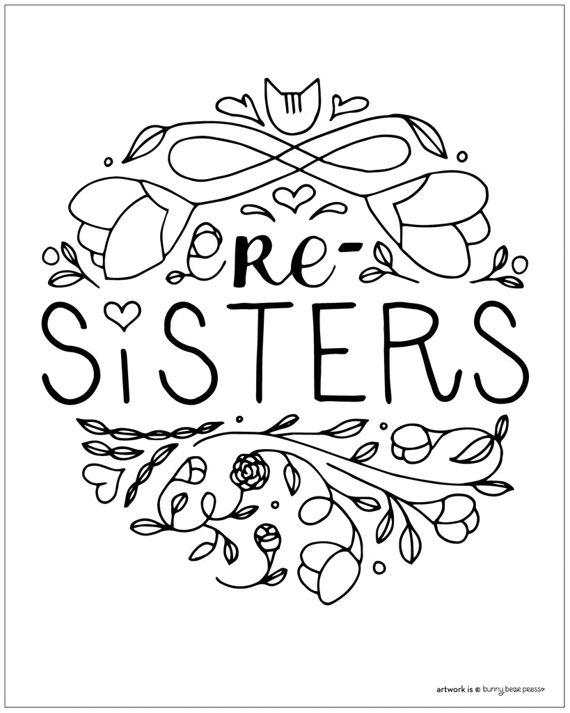 Re Sisters 1 Women's March 2018 FREE POSTER DOWNLOAD