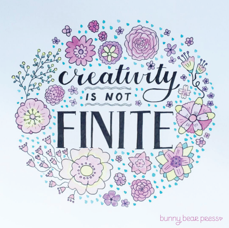 Creativity is Not Finite Artwork by Bunny Bear Press