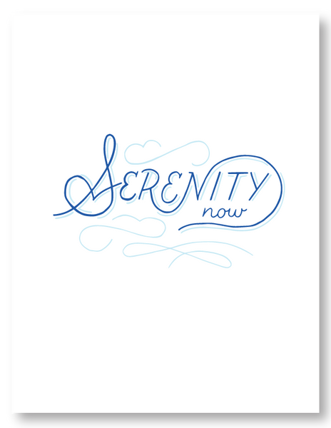 Digital Mock up of Serenity Now