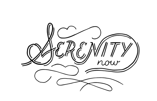 vector artwork for new card release for Serenity Now