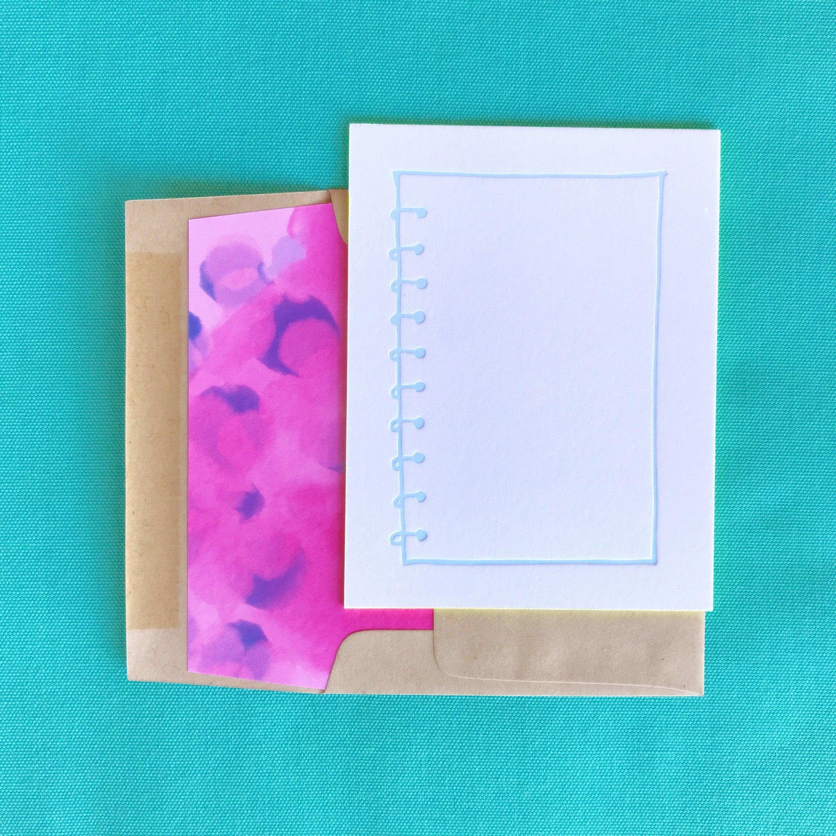 The perfect cards for all your besties bunny bear press 6 pack of spiral edge painted notecards kristyandbryce Image collections