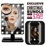 VANITY BUNDLE WORTH £80 INCLUDES THE LIT LUX VANITY TOUCH LED MIRROR AND SELFIE CASE - LIMITED STOCK