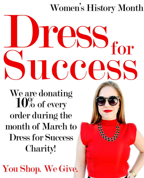 How We Support Dress For Success Charity During Women's History Month