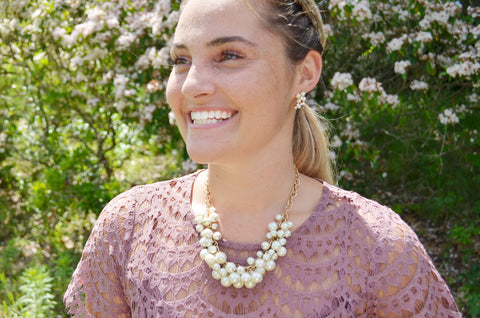 summer wedding style formal pearls classic look