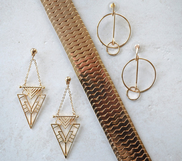 gold edgy gift set