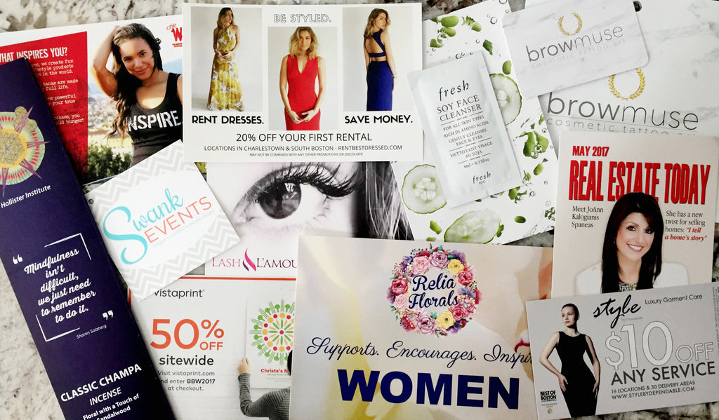 be bold boston business women's conference sponsers vendors swag bag