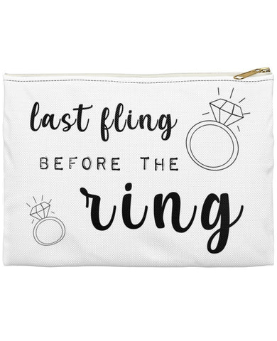 Last Fling Before The Ring Bachelorette Party Makeup Accessory Pouch