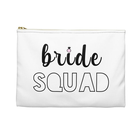 Bride Squad Bachelorette Party Favor Gift Makeup Accessory Pouch