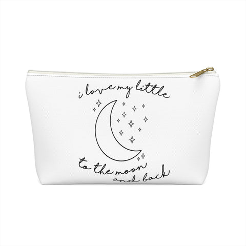 I Love My Little To The Moon & Back Sorority Flat Pouch Sorority Recruitment