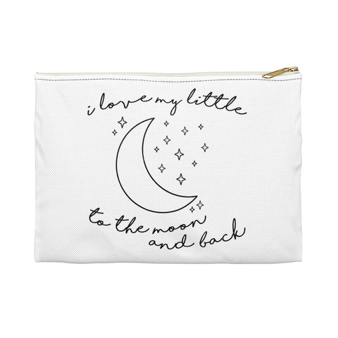 I Love My Little To The Moon & Back Sorority Makeup Bag