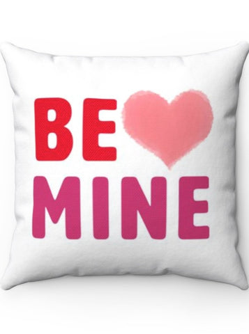 Be Mine Valentine's Day Heart Polyester Square Pillow