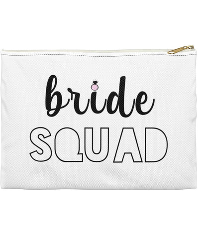 Bride Squad Bachelorette Party Favor Makeup Pouch