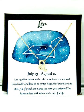 Zodiac Leo Astrological Necklace