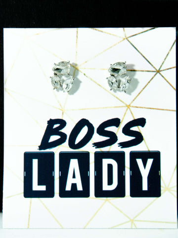 Boss Lady Jewel Earrings + Card + Box