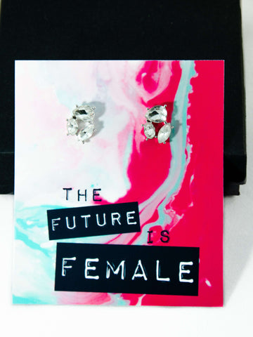 The Future is Female Jewel Earrings