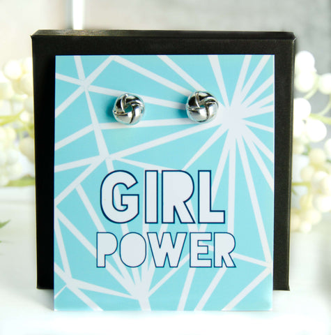 Girl Power Gold Earrings