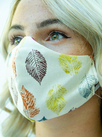 Fall Leaf Cotton Washable Adult Face Mask
