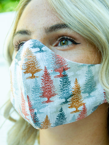 Pine Tree Fall-Winter Cotton Washable Adult Face Mask